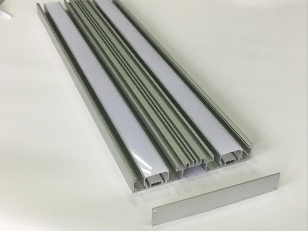 Free Shipping Unique Design silver Color Aluminum Housing Suspended Linkable Slim Ultra-thin LED Linear Lights Fixture 1.8m/pcs