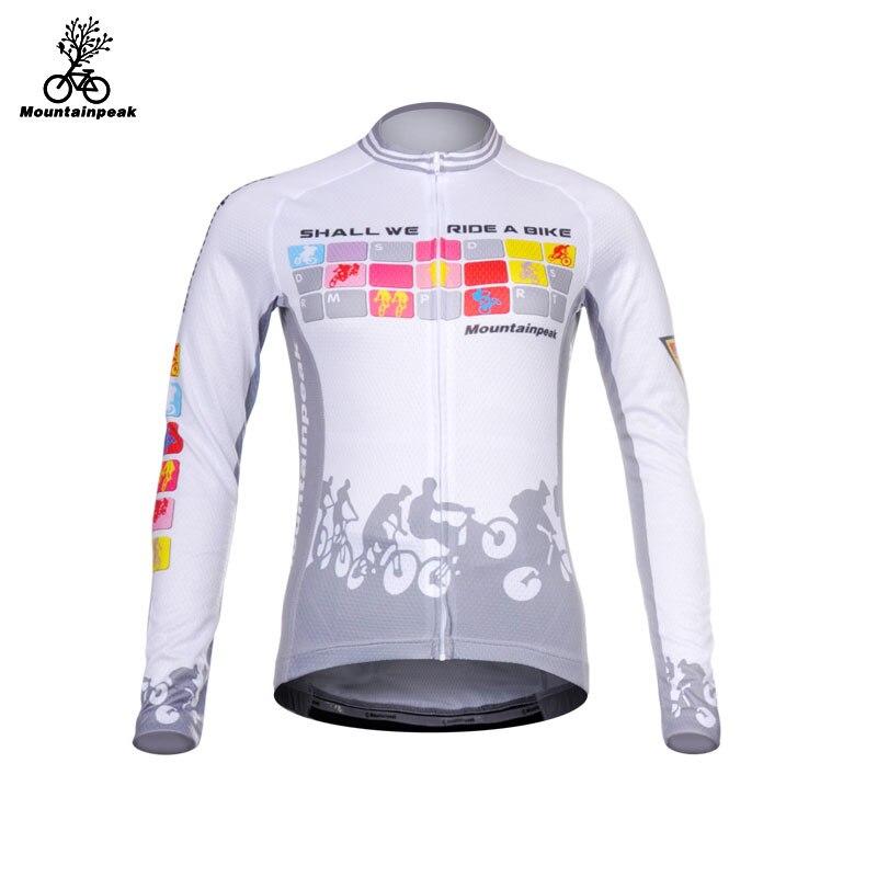 Mountainpeak Cycling Jerseys for Women Long Sleeve Mountain Bike Riding Jacket Ride A Bicycle