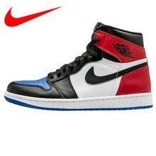 ed4d955d6a182d Оригинальный Nike Air Jordan 1 OG Top 3 AJ1 Joe 1 Mandarin Duck Fight  Мужская Баскетбольная обувь, наружная Shock-впитывающие кр.