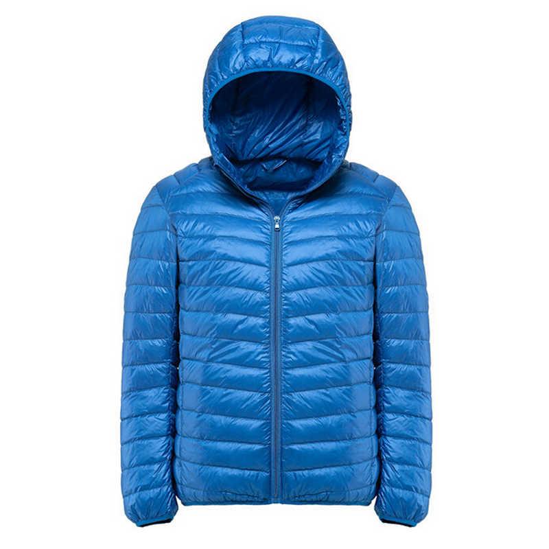 メンズジャケットとコート Jaqueta Masculino 超軽量フード付き生き抜くパーカーダウンウォーム軽量付き
