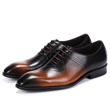 Spring and Autumn Locke Mens Shoes Dress Single Shoe Leather Wipe Business leather casual shoe