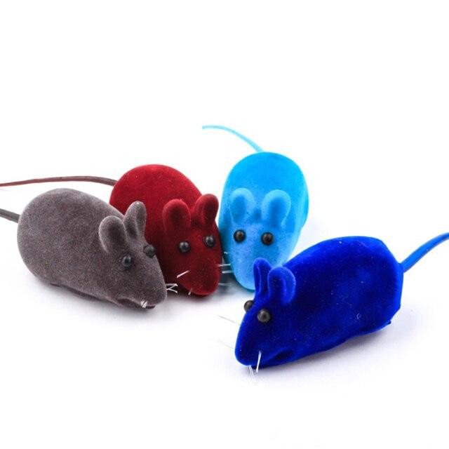 1 PC Divertente Gatto Giocattolo Little Mouse Suono Realistico Giocattoli Lunghe
