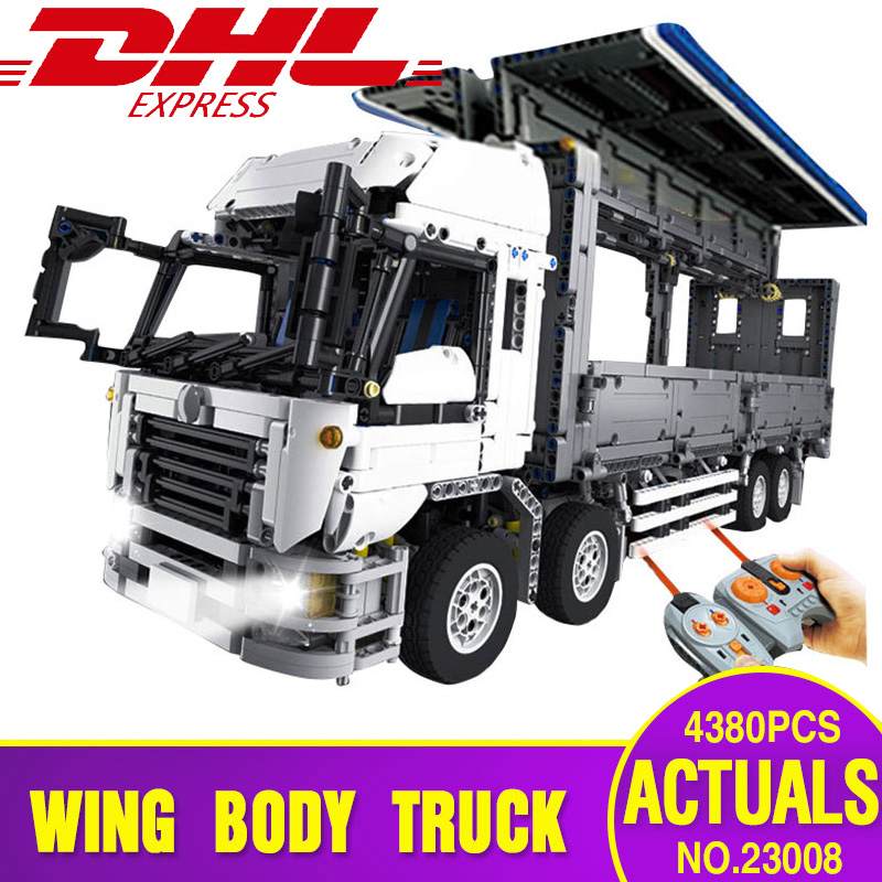 DHL Lepin 23008 Technical Series The MOC Wing Body Truck Set legoing 1389 Educational Building Block Bricks Children Toys Gift 23008 4380pcs technical series the moc wing body truck set compatible with 1389 educational building blocks children toys
