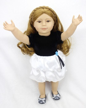 Pursue 18 45 cm realistic american baby doll plastic reborn baby dolls for girls long curly.jpg 350x350