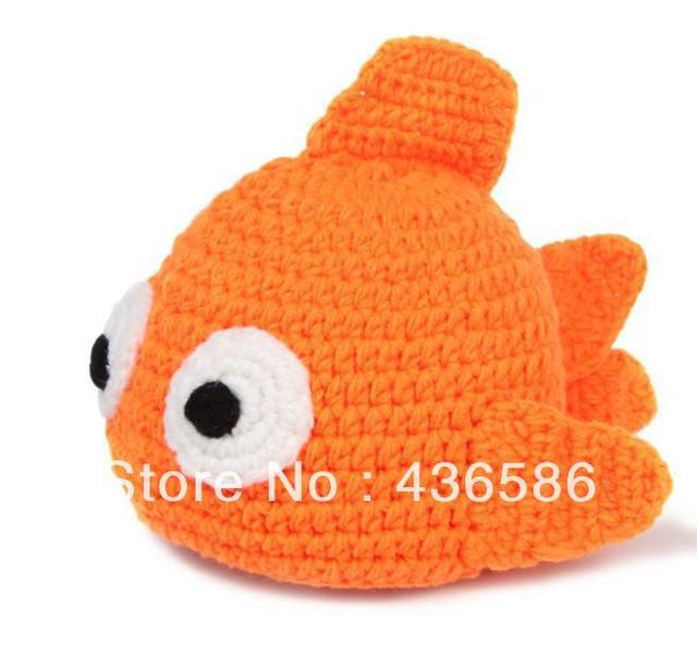 5 unids pez dorado animales gorro sombrero del bebé muchacha del ...
