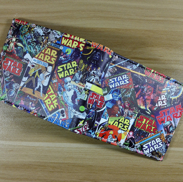 2018 Star Wars wallet Darth Vader animated cartoon wallet purse young students personality wallet W261 все цены