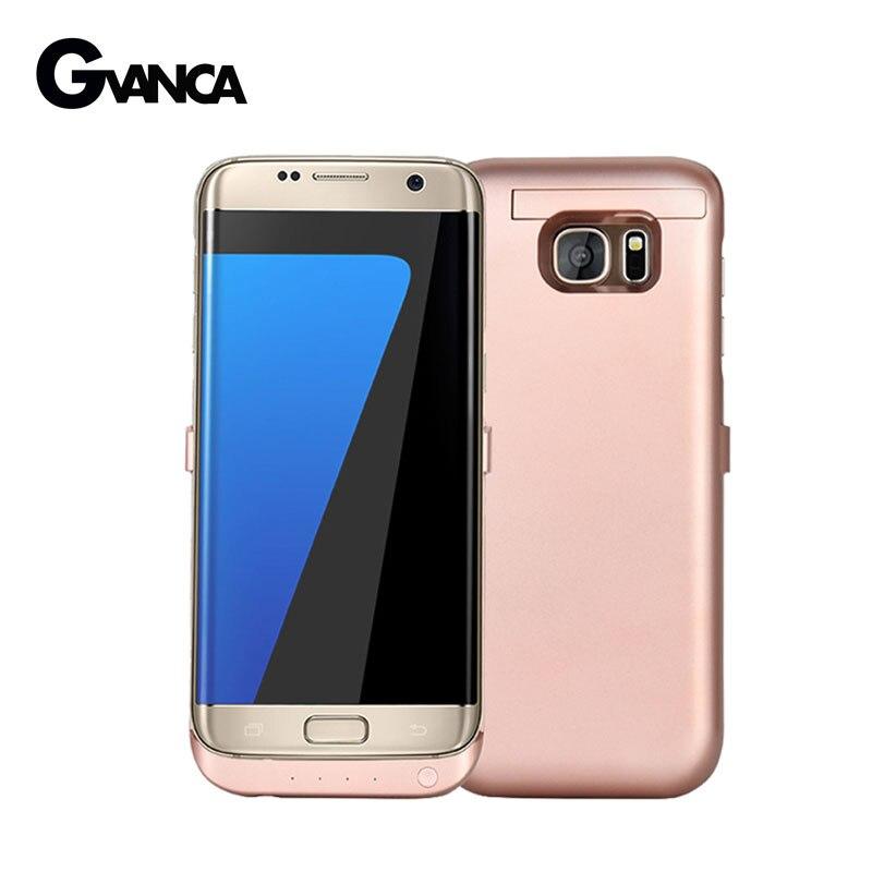 bilder für Für Samsung Galaxy S7 rand Ladegerät Fall 6800 mAh Externen Batterie-kasten Power Bank Abdeckung Power Case Max 1A ausgang