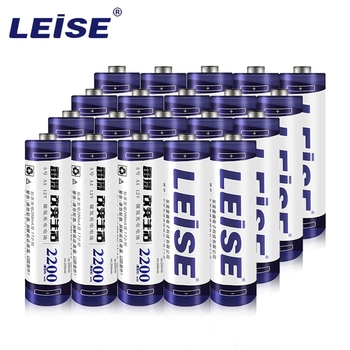 Leise 20pcs AA 2200mAh  Rechargeable Battery 1.2v NI-MH 2A Packaged for Sale Cycle charging 1000 Times Safe Durable for Home Use