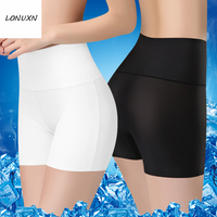 3PCS/lot Sexy hegh waisted safety pants Sexy Summer Style Fashion Women's Panties Ice Silk Cool Refreshing Seamless Underwear
