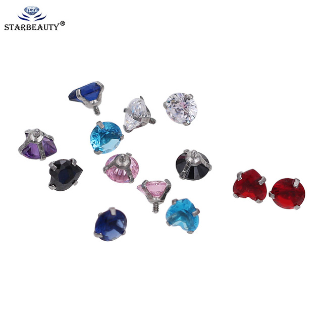 5pcs/Lot 16G 5mm Internally Threaded Belly Lip Eyebrow Tongue Belly Navel Ring Body Jewelry Piercing Parts Body Piercing Ball 1