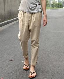 Мужские летние плюс Размеры Повседневное середины лодыжки-длина брюки эластичный пояс свободные брюки карандаш Для мужчин Лен дышащий карандаш капри - Цвет: 1