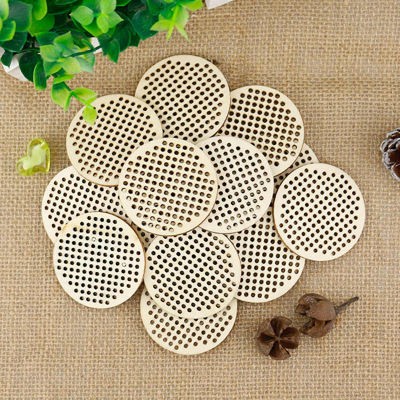 20pcs Mini Embroidery Hoop Circle/ Heart / Oval Shape Wooden Cross Stitch Chip Handmade Sewing DIY Accessories Wooden DIY Craft