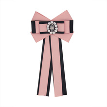 2018 New Arrival Crystal Bow Ribbon Brooch Ties for Men or Women's Formal Suit (6 colors)