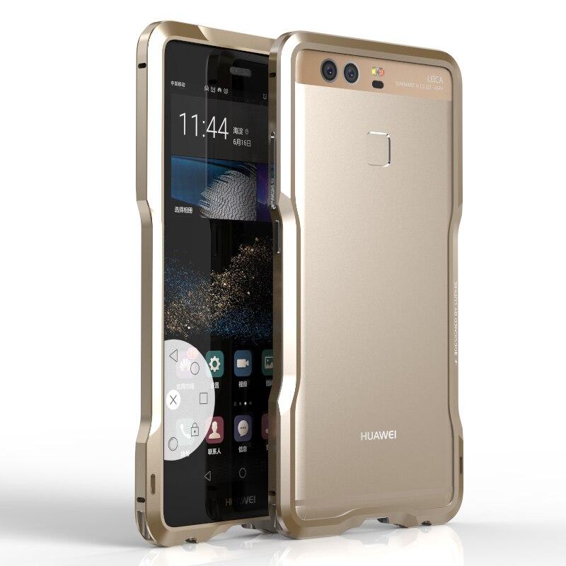 Цена за Для Huawei Ascend P9 случае Luphie Модные Роскошные Металлические Рамки телефон Чехлы для Huawei P9 бампер Fundas