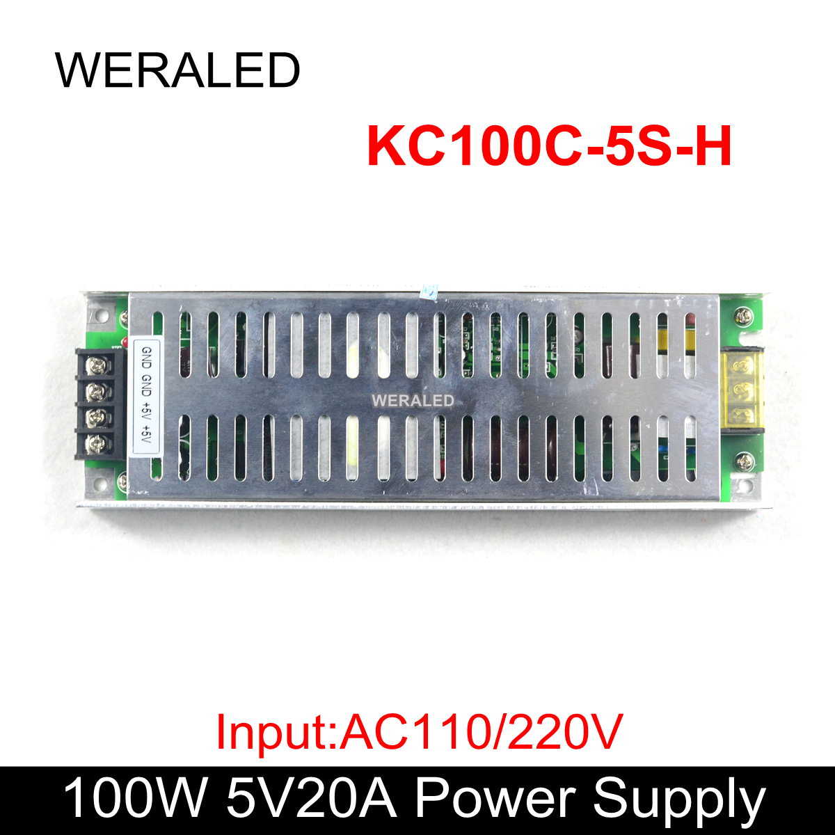 Factory Price 5V 20A 1000W LED Car Display Power Supply Input AC110V/220V , Work for P4.75/P4/P5/P7.62/P10 LED Display Panel