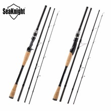 SeaKnight YASHA Lure Fishing Rod 2.1M 2.4M 2.7M 4 Section M Power Carbon Fiber Spinning/Casting Travel Rod 10-30g Fishing Tackle