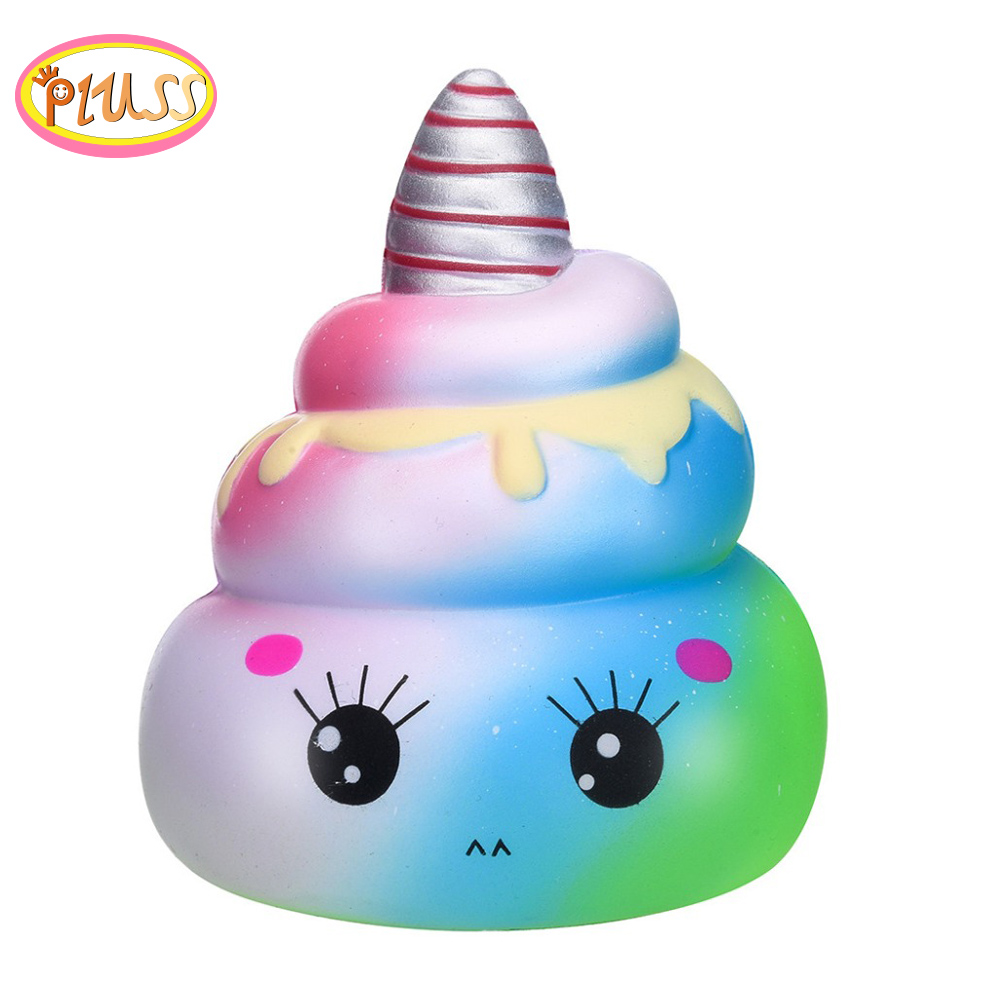New Squishy Kawaii Poo Fun Galaxy Emoji Poo Scuishy Squash Anti-stress Slow Rising  Squeeze Kid Toy Squishy Toys For Children