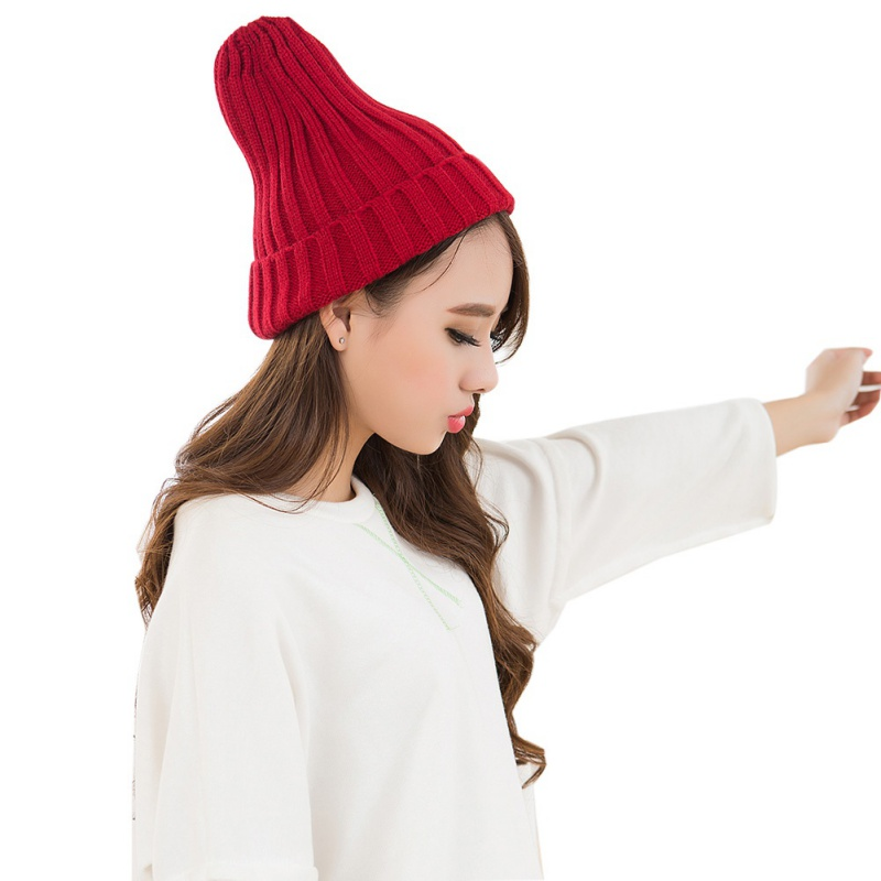 Hat Female Unisex Cotton Blends Solid Warm Soft HIP HOP Knitted Hats Men Winter Caps Women's Skullies Beanies For Girl Wholesale 3