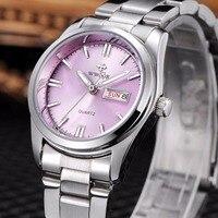 WWOOR Women Watches Top Brand Luxury Watches For Women Full Stainless Steel Quartz Wristwatches Fashion Women