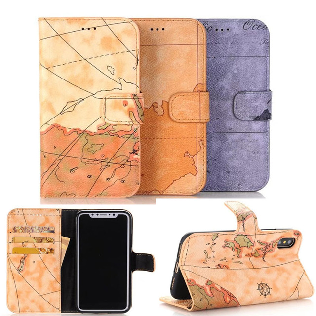 World Map Iphone 6s Case.For Apple Iphone X 8 5 5s Se 6 6s Case World Map Business Leather