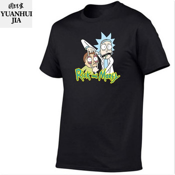 Cool Rick Morty men t shirt 2018 Summer Anime T-shirts rick and morty worlds folk black White Cartoon Cartoon tee shirt homme