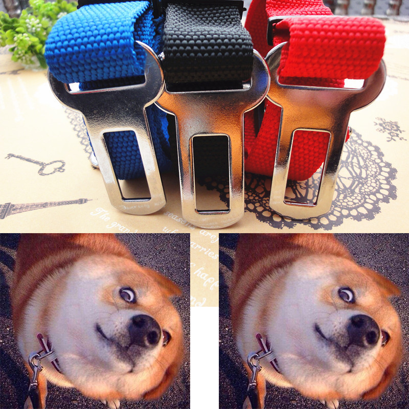 3Color Adjustable Pet Dog Cat Safety Seatbelt Pet Dog Car Vehicle Auto Seat Belt Dog Harness Lead Leash