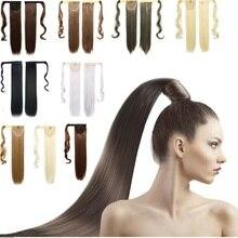 Хвостик, syntheitc хвостики, черный/коричневый/блондинка хвостик волосы, kanekalon ponytail длиной синтетические поддельные