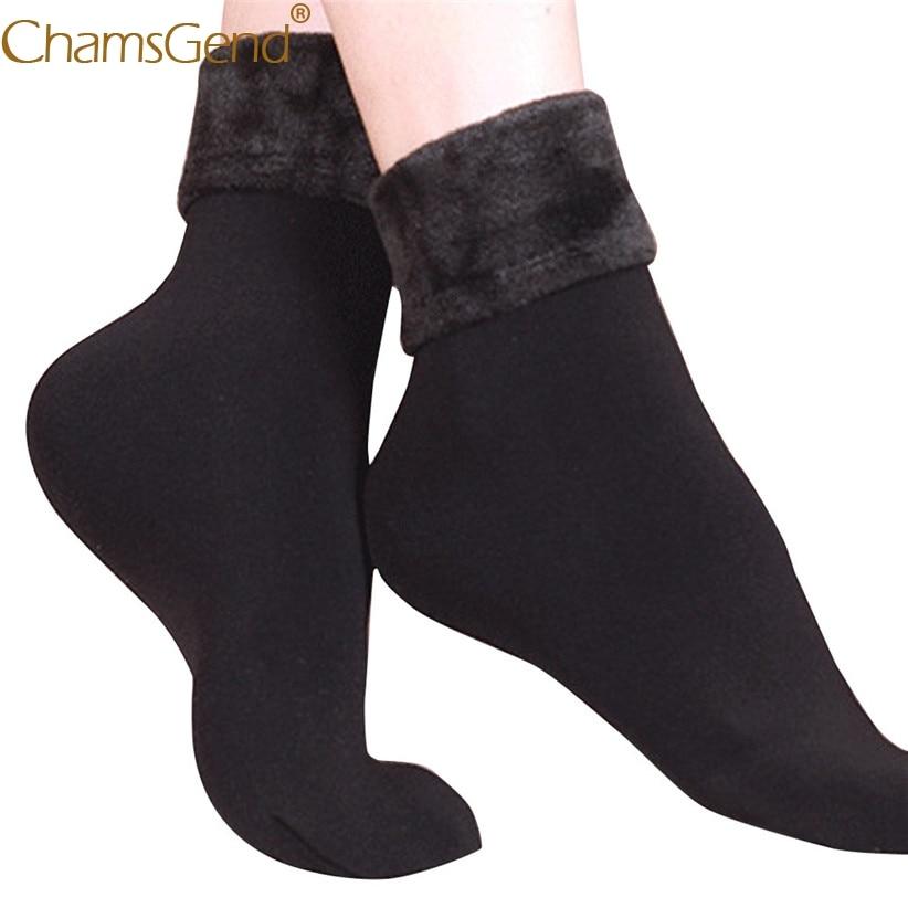Chamsgend   Socks   1Pair Women Girls Winter Warm Thicken Wool Fleece Above Ankle   Socks   calcetines mujer 71219