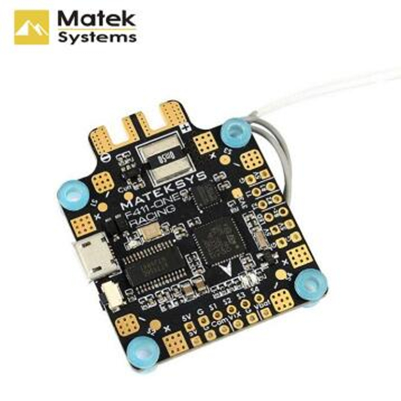 купить Matek System F411-One F4 Flight Controller AIO OSD 5V BEC Current Sensor For RC Models Multicopter Frame Parts по цене 2855.22 рублей