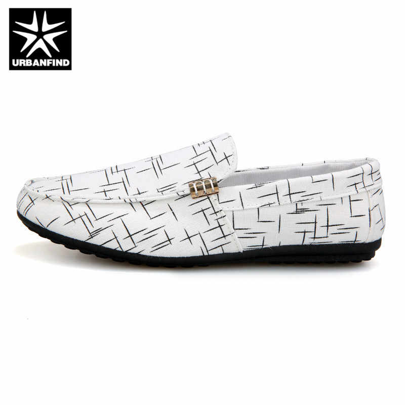 URBANFIND Mannen Loafers Mannen Schoenen Casual Schoenen 2019 Lente Zomer Licht Canvas Jeugd Schoenen Mannen Ademend Mode Platte Schoenen