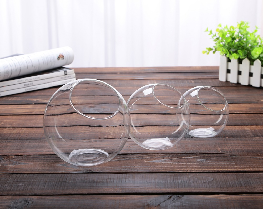 Dia10cm round glass bowl vase succulent terrarium glass fish dia10cm round glass bowl vase succulent terrarium glass fish aquarium landscape kit gift event party wedding home decor x 30 in vases from home garden on reviewsmspy
