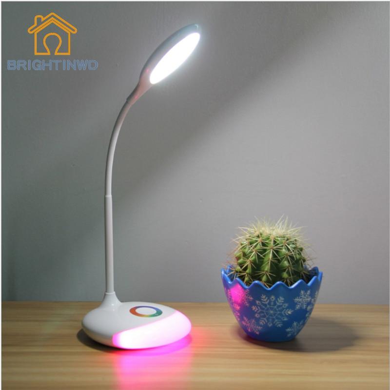 Brighting Led Table Reading Lamp Office Light Adjustable Lamp USB Rechargeable Touch Sensor LED Desk Light Table Lamp for home