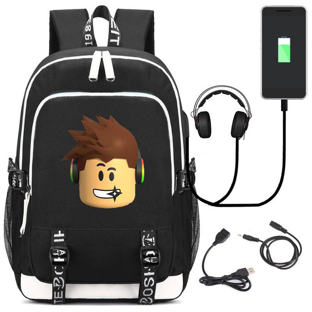 Multifunction Game Roblox Kids School Bag Cartoon Children USB Backpack Men  travel Laptop Bags Action Figure Toys Boys Girl Gif 9ea15336f7