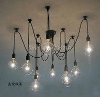 10 Lights bulb & remote control) Edison Chandelier, Edison light bulb chandelier,Modern chandeliers Pendant Lamp dinning room