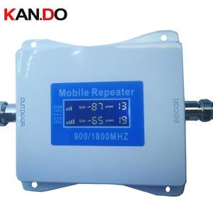Image 1 - 2G + 4G משחזר חדש דגם 22 dbm 65dbi LCD תצוגה כפולה להקות GSM DCS booster משחזר DCS 900 1800mhz 4g בוסטרים