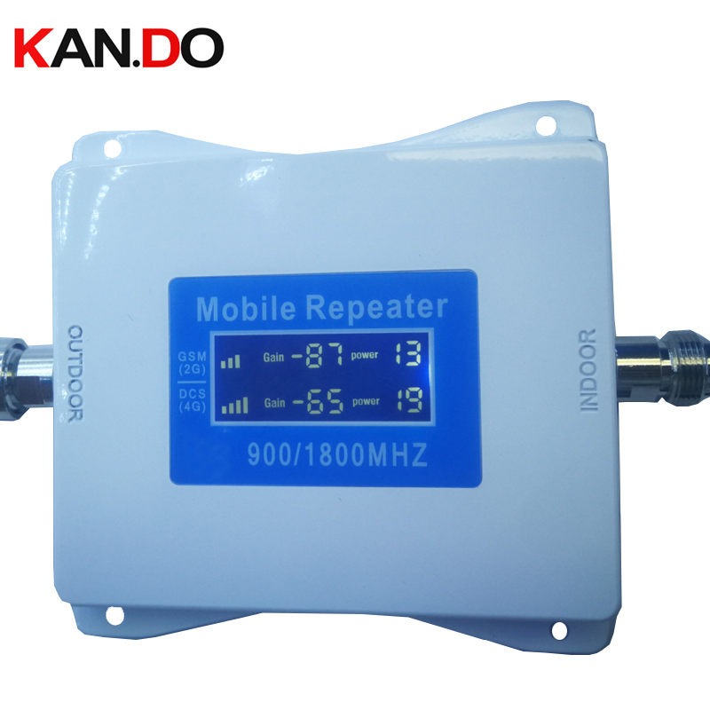 2G+4G Repeater New Model 22 Dbm 65dbi LCD Display Dual Bands GSM DCS Booster Repeater DCS 900 1800mhz 4g Booster