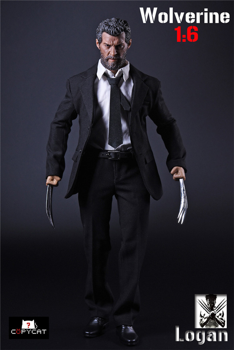 COPYCAT 1/6 Action Figure Accessories Clothing Toys Wolverine Suit Fit 12 Male Action Figure Doll Body Toys