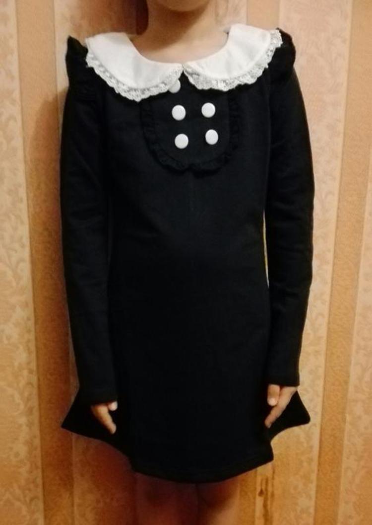 HTB18TPrPFXXXXchXVXXq6xXFXXXD - 2017 spring autumn new arrival cotton girl korean clothes doll collar long sleeved casual girls A-line mini dress kids clothing