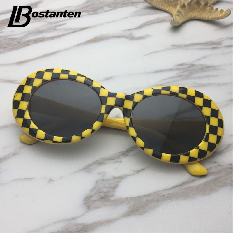e211699d2378 Bostanten 18 colors Wiz Khalifa Nirvana Kurt Cobain Oval Men Women  Sunglasses Vintage Neff Sun Glasses Retro Female Male-in Sunglasses from  Apparel ...