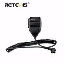 Retevis R-321 2Pin PTT Speaker Microphone For Motorola GP68 GP300 GP2000 For HYT TC-500 TC-610 TC-700 Walkie Talkie Accessories