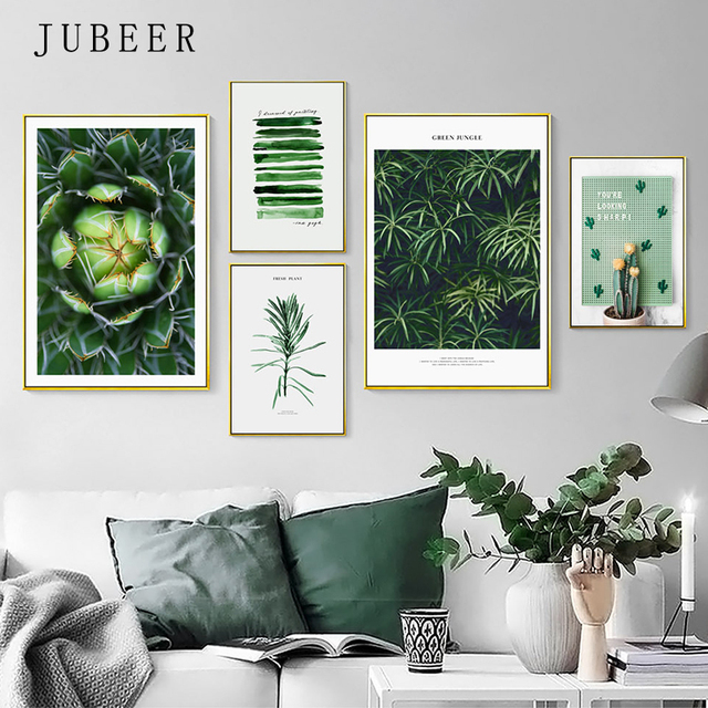 Scandinavian Style Plant Posters And Prints Green Leaves