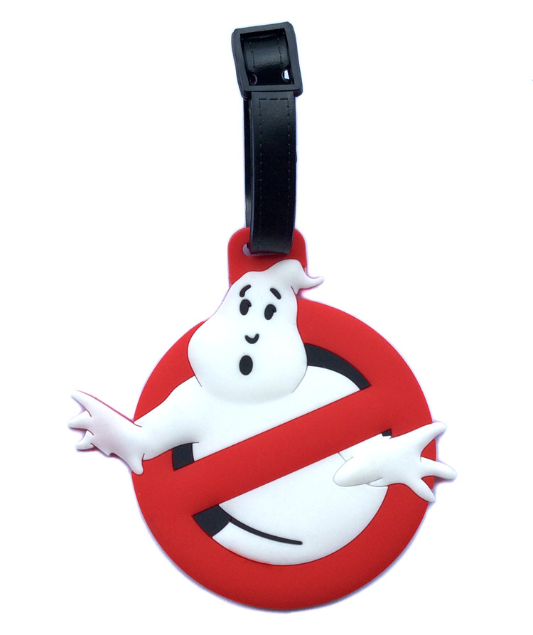 Travel Bag Luggage Cover Travel Accessories Cartoon Luggage Tag Ghost Death Squads Ghostbusters Check Tags Hanging Decoration