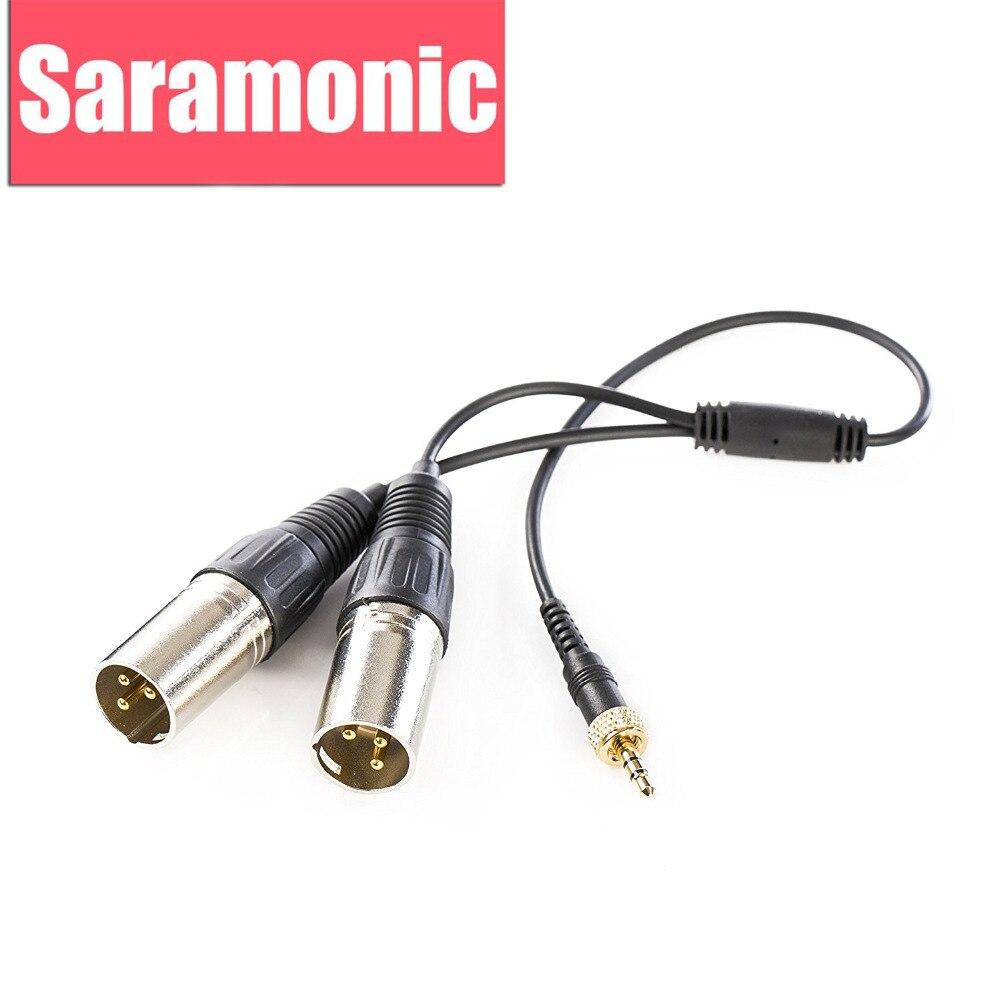 Saramonic SR-UM10-CC1 Dual-XLR Input Microphone Cable Convertor For UwMic9, UwMic10 & UwMic15 Wireless Microphone Systems