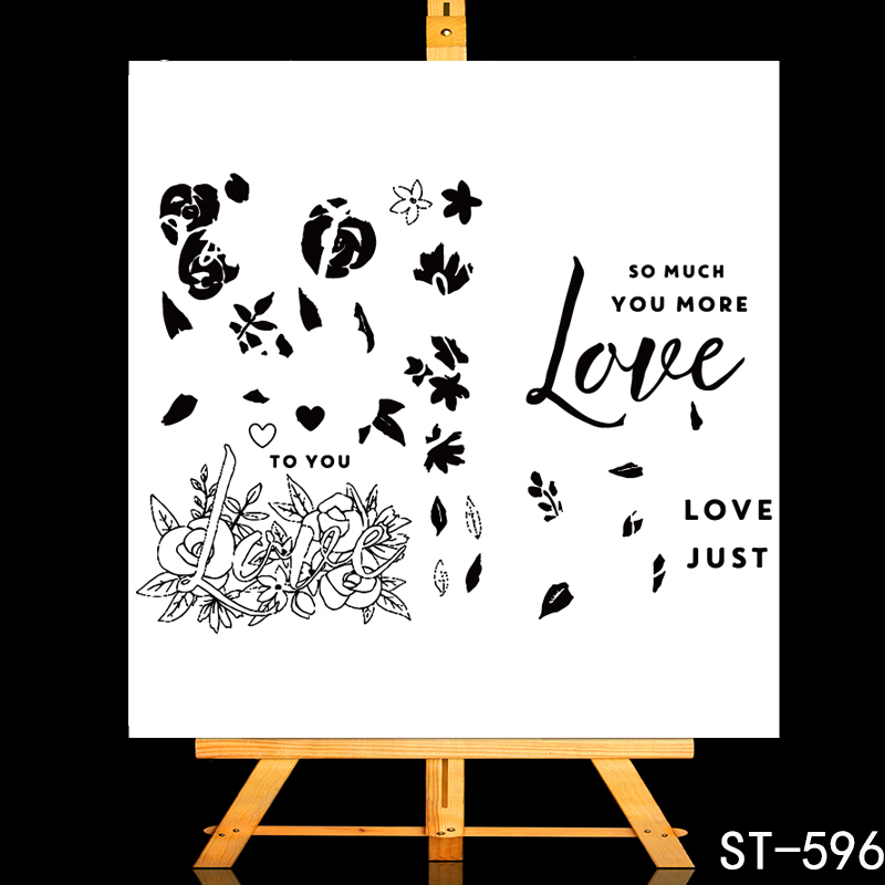 ZhuoAng A symbol of roses Transparent and Clear Stamp DIY Scrapbooking Album Card Making DIY Decoration Making in Stamps from Home Garden