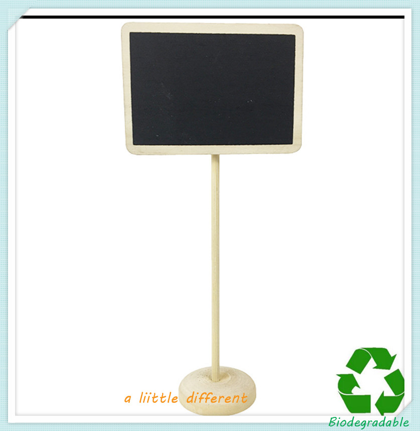 """3"""" Mini Square Chalkboard On Wood Stand Name Place Settings For Buffet Table Wedding Food Labels Table Markers Supplies"""