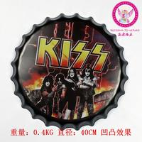 New arrival tin sign KISS Vintage Metal Painting Beer cap Bar pub Wallpaper Decor Retro Mural Poster Craft 40x40 CM