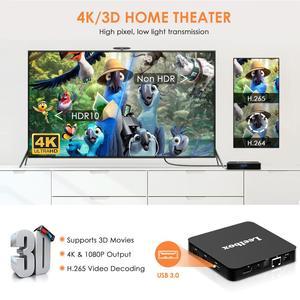 Image 3 - Nuevo q4 Plus caja de TV inteligente Android 9,0 4 GB + 64 GB RK3228 Quad Core WIFI 2,4G 4 K 3D HK1mini Google Netflix Set Top Box