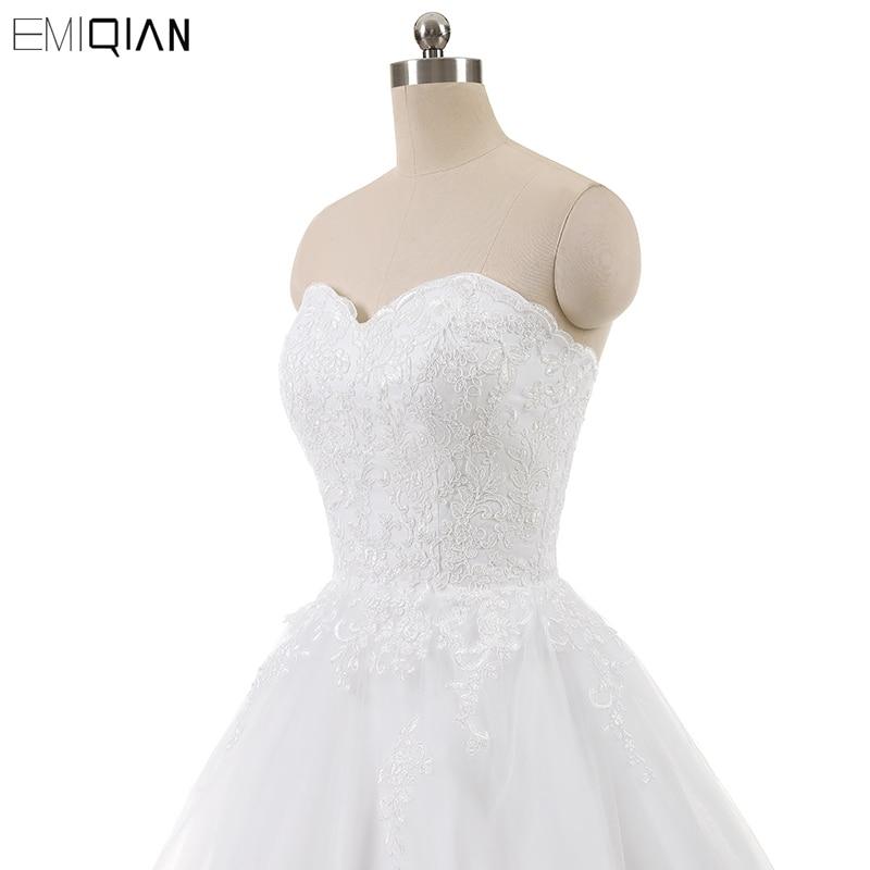 Real Photo Sleevess Vintage Blond Bröllopsklänningar 2018 En Line - Bröllopsklänningar - Foto 5