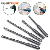 6mm 10mm Round Shank Drill Bit Set Stainless Steel SDS Plus Rotary Hammer Concrete Masonry Drill