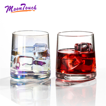1pcs Whiskey Wine Glass Cup For Home Bar Beer Water Party Hotel Wedding Coffee Crystal 300ml Glasses Gift Decorations
